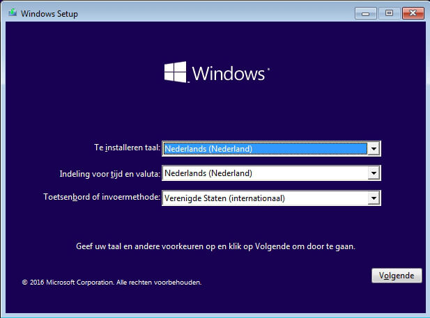 Windows voorkeuren