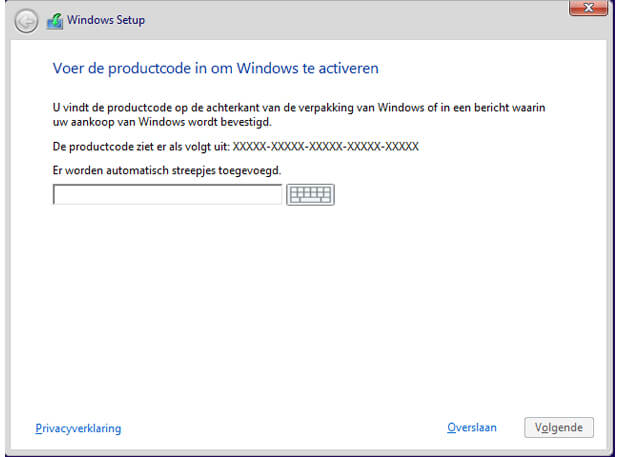 Windows activeren
