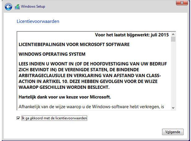 Windows Licentievoorwaarden