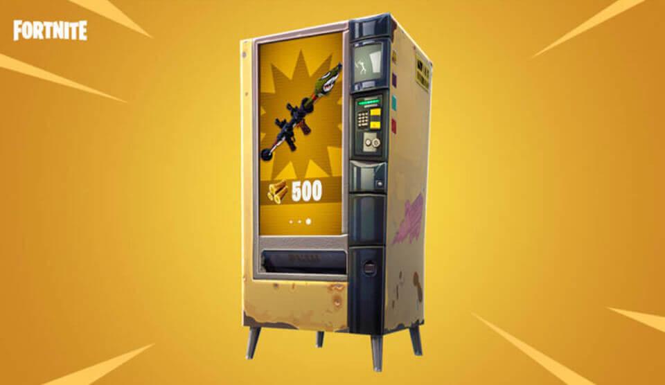 Fortnite verkoopautomaten